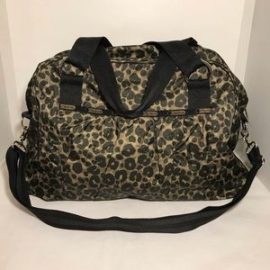 LeSportSac Large Cheetah Print Travel Workout Bag
